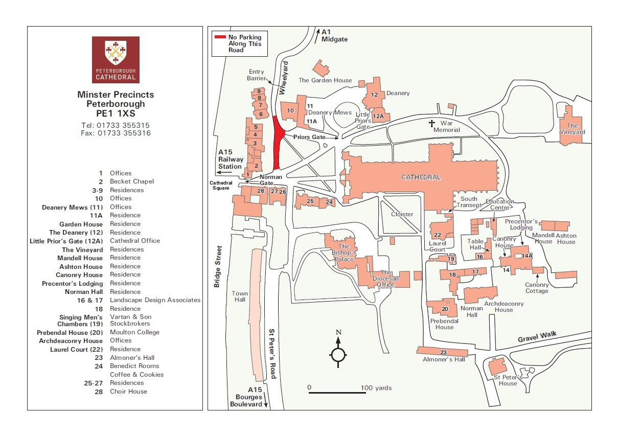 Map of Cathedral Precincts
