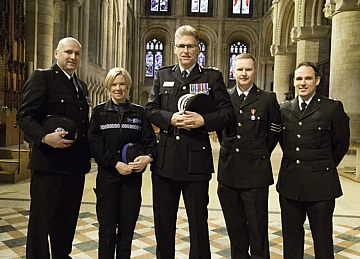 Chief Constable Simon Cole and Police colleagues
