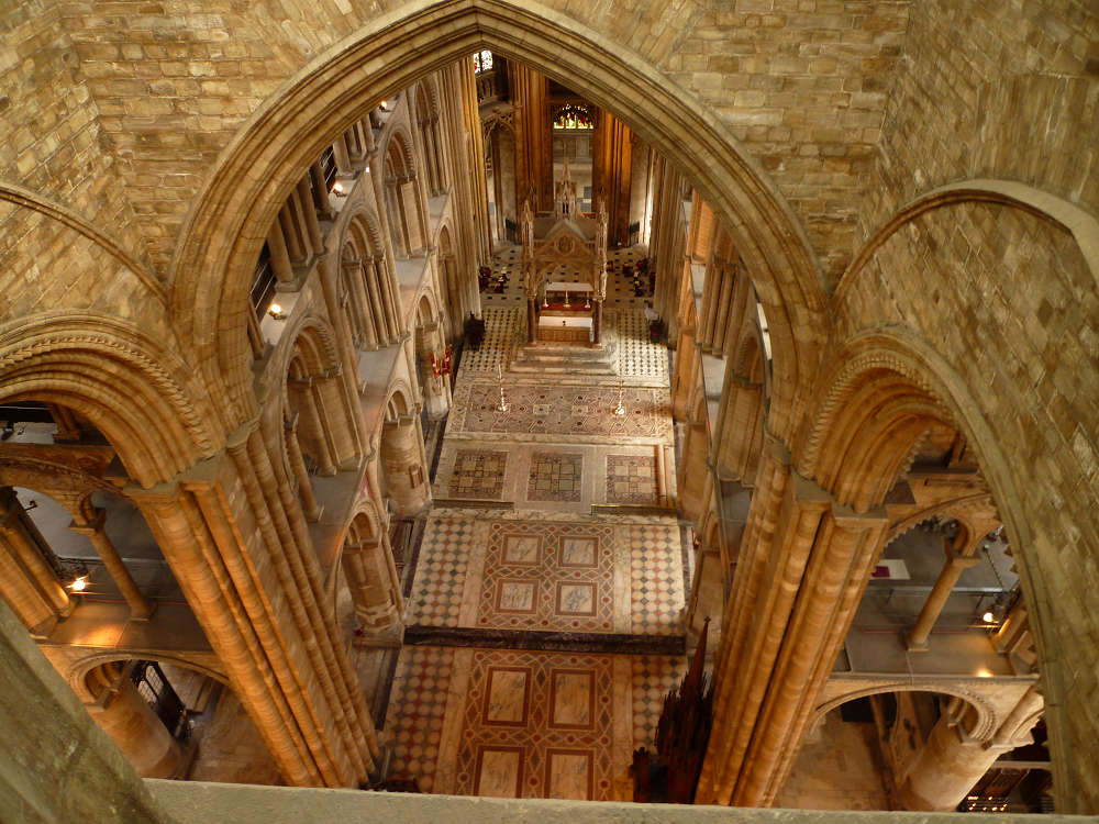 View of the Presbytery from the Tower Gallery by Tower Guide Geoffrey Gent