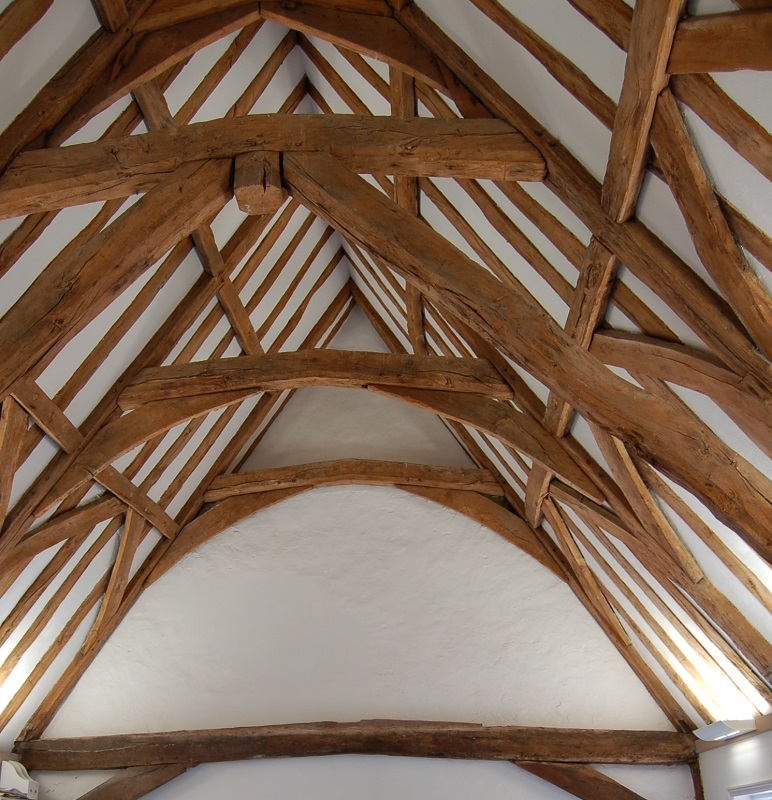 Medieval roof timbers in Table Hall