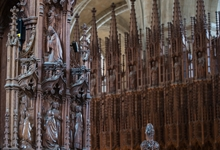 The late-Victorian choir stalls